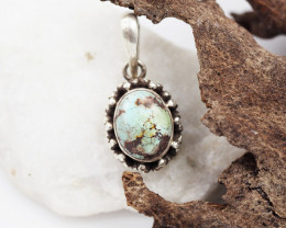 Tribal Turquoise silver pendant AM 618
