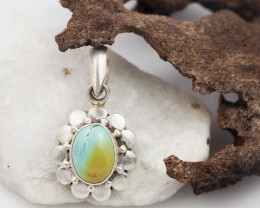 Tribal Turquoise silver pendant AM 621