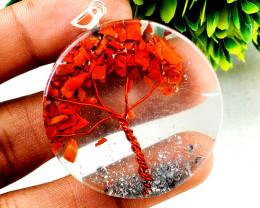 Red Jasper Orgone Tree Pendant