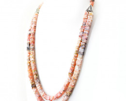 Pink Australian Opal Beads Designer Necklace