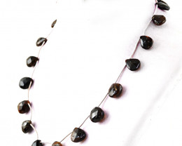 Single Strand Garnet Faceted Beads Necklace