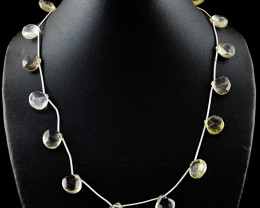 Citrine Pear Shape Faceted Beads Necklace