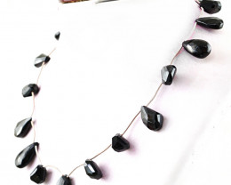 Black Spinel Pear Shape Beads Necklace