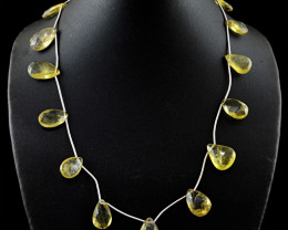 Lemon Topaz Faceted Beads Necklace