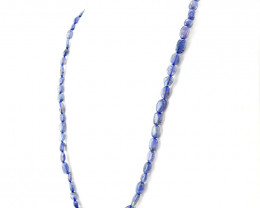 Iolite Oval Shape Beads Necklace - 20 Inches Long