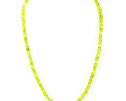 Green Phrenite Beads 20 Inches Long Necklace