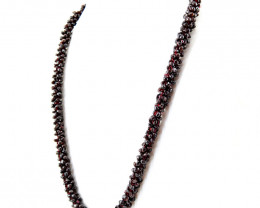 Genuine Red Garnet Beads Necklace