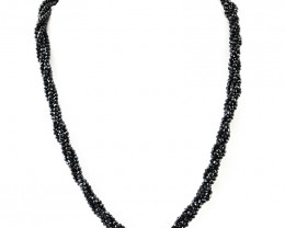 Designer Black Spinel Faceted Beads Necklace