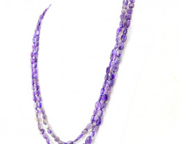 2 Strands Amethyst Beads Necklace