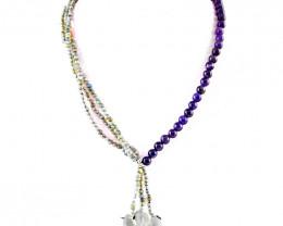 Designer Labradorite & Purple Amethyst Beads Necklace