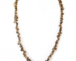 Genuine 173.50 Cts Smoky Quartz Beads Necklace