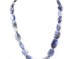 Blue Iolite Faceted Beads 20 Inches Long Necklace