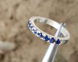 Very Dazzling - sapphires handmade silver ring