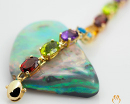 20 Assorted Gemstones Yellow Gold Bracelet - B 4596 8500