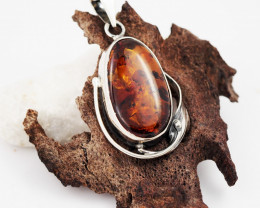 Baltic Amber Sale, Silver Pendant   , direct from Poland  AM 625
