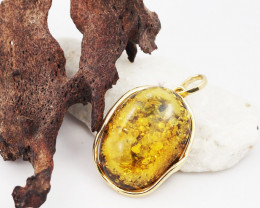 Baltic Amber Sale, Silver Pendant   , direct from Poland  AM 626