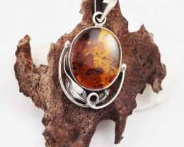 Baltic Amber Sale, Silver Pendant   , direct from Poland  AM 627