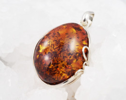 Baltic Amber Sale, Silver Pendant   , direct from Poland  AM 628