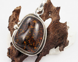 Baltic Amber Sale, Silver Pendant   , direct from Poland  AM 630