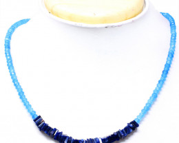 Blue Sodalite & Apatite Beads Necklace