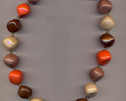 Cadeaux - Ivory , brazilian brown ,orange c , rust