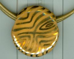 Benin Pendant-Golden Eye