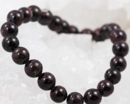 Natural Garnet 8 mm Bead Bracelet  AM 637