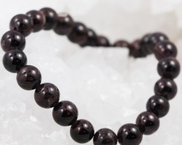 Natural Garnet 8 mm Bead Bracelet  AM 639