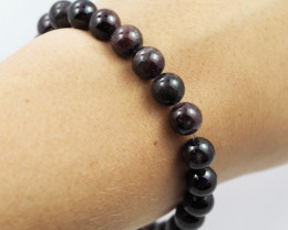 Natural Garnet 8 mm Bead Bracelet  AM 640