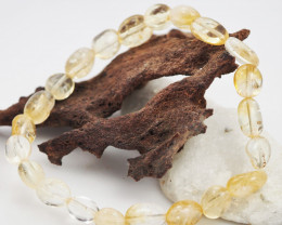 Natural Free form  Citrine Crystal Bead Bracelet  AM 642