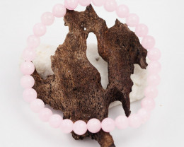 Natural 7 mm Pink Rose Quartz  Bead Bracelet  AM 665