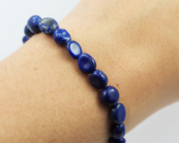 Natural  Free Form Lapis lazuli   Bead Bracelet  AM 667