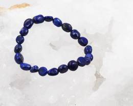 Natural  Free Form Lapis lazuli   Bead Bracelet  AM 669