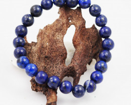 Natural  8 mm Lapis lazuli   Bead Bracelet  AM 672