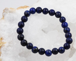 Natural  8 mm Lapis lazuli   Bead Bracelet  AM 674