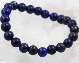 Natural  8 mm Lapis lazuli   Bead Bracelet  AM 675