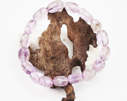 Natural  Free Form Amethyst  Crystal  Bead Bracelet  AM 676
