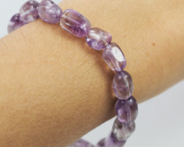 Natural  Free Form Amethyst  Crystal  Bead Bracelet  AM 677
