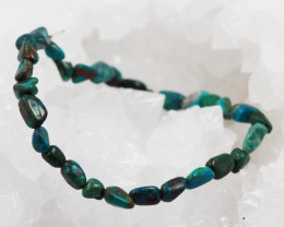 Natural   Free Form Chrysocolla Bead Bracelet  AM 687