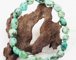 Natural Tribal turquoise Bead Bracelet  AM 712
