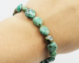 Natural Tribal turquoise Bead Bracelet  AM 714
