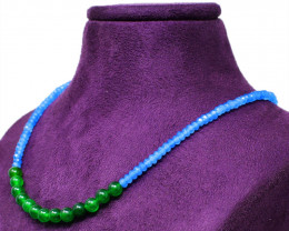 Green Emerald & Apatite Beads Necklace