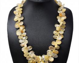Golden Rutile Quartz Beads Necklace