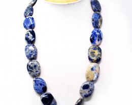 Blue Sodalite Beads Becklace