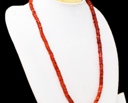 Beautiful Orange Carnelian Beads Necklace