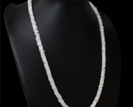 Blue Flash Moonstone Beads Necklace