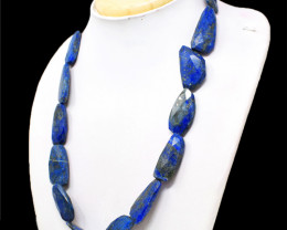 Blue Lapis Lazuli Faceted Beads Necklace