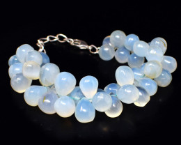Chalcedony Pear Shape Beads Necklace