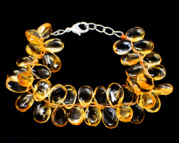 Golden Rutile Quartz Beads Bracelet