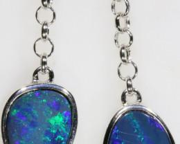6.00 CTS Doublet Opal Bracelet , top design sterling silver SB1145